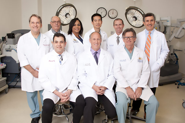Inland Valley Medical Center's surgeons and total joint center coordinator